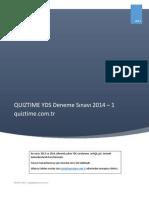 235534320 QUIZTIME Ucretsiz YDS Deneme Sınavı 1