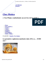 La Première Explosion Nucléaire Date d'Il y a… 8 000 Ans ! _ Site Officel de Mutien (FR)