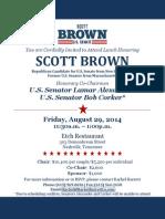 Scott Brown fundraiser