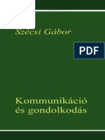 Szécsi Gábor - Kommunikáció És Gondolkodás