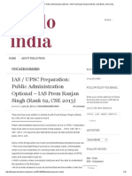 IAS _ UPSC Preparation_ Public Administration Optional – IAS Prem Ranjan Singh (Rank 62, CSE 2013) _ Khelo India