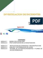 Investigación de Accidentes e Incidentes 2014