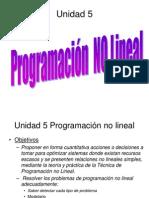 Unidad 5 Prog No Lineal 2013