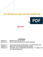 Investigación de Accidentes e Incidentes 2014 2