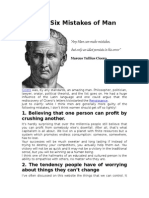 Ciceros Six Mistakes of Man