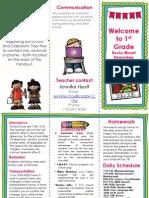 open house parent brochure