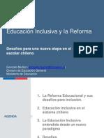 Educación Inclusiva y Reforma Educacional