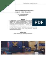 132928381 El Debate Como Herramienta Educativa Codigo de Debate Competitivo Patricio Lepe Carrion