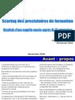Scoring prestataires formation 1déc09