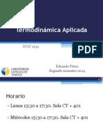 Clase 1 - Termodinamica 2014