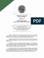 Detroit EM - Order No 27 - Establishing Grants Management Department
