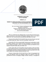 Detroit EM -Order No 25 - Amend Chapter 54 of the 1964 Detroit City Code and Chapter 47 of the 1984 Detroit City