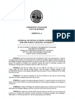 Detroit EM - Order No 06 - Approval of Initial Funding Agreement for the Public Lighting Authority
