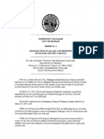 Detroit EM Order No 1 - Restoration of Salary and Benefits of Mayor and City Council