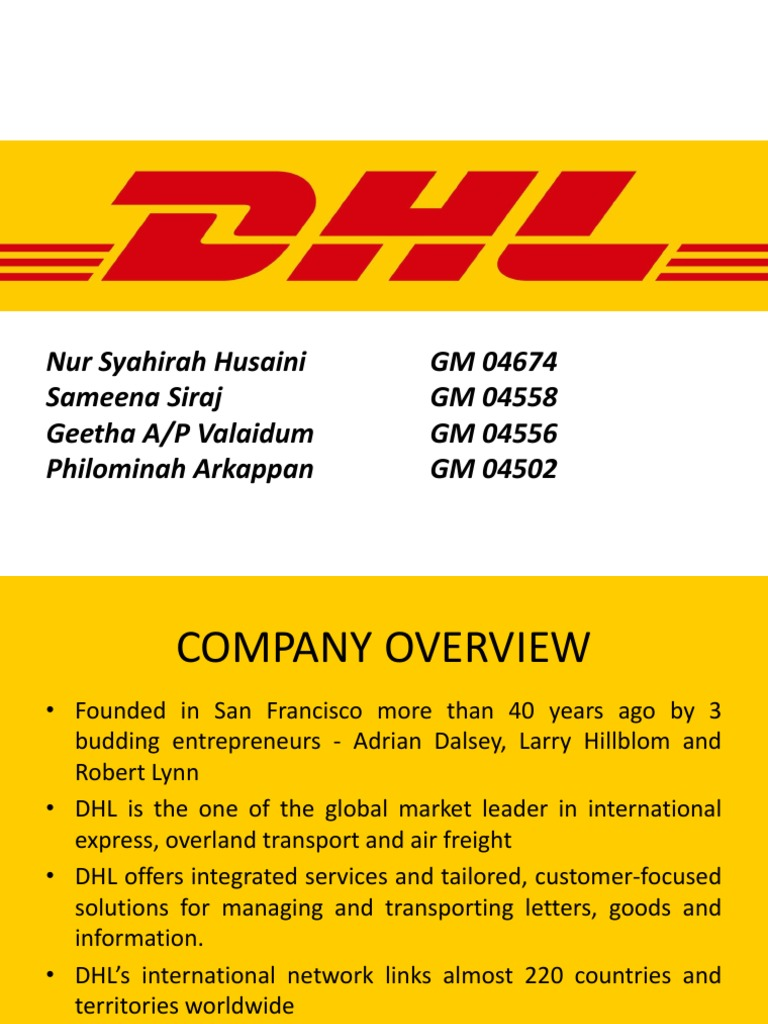 dhl pestle analysis