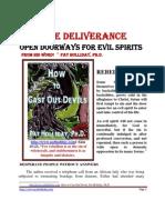 Miracle Deliverance Open Doorways for Evils Spirits