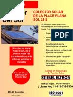 Características Técnicas Colector Solar Stiebel Eltron Sol 25 S 2005