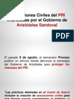 Asociaciones Civiles del PRI financiadas por el Gobierno del Estado