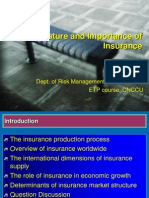 Nature and Importance Insurance
