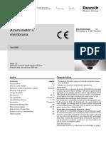 Acumulador de Membrana Oleoneumatico Rexroth