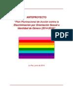 Plan Plurinacional de Acción contra la Discriminación por Orientación Sexual e Identidad de Género (2014-2018)