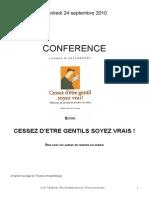 Conference 24-09-2010 Cessez Detre Gentils Soyez Vrai1
