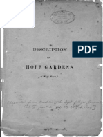 Description of Hope Gardens Feb 1906