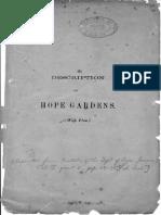 Description of Hope Gardens Feb 1906