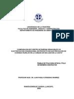 Comparación de Fuentes de Energia Renovables vs Electrificación Convencionalen Proyecto de Electrificación de Viviendas Rurales en La Comuna de San Juan de La Costa