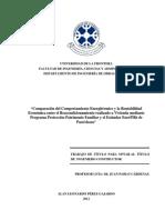 Comparación Del Comportamiento Energitérmico y La Rentabilidad Económica Entre El Reacondicionamiento Realizado a Vivienda Mediante Programa Protección Patrimonio Familiar y El Estándar EnerPHit de Pas