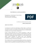 Guía Dídactica - La Crónica