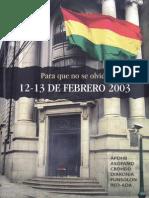 Para Que No Se Olvide 12-13 de Febrero 2003