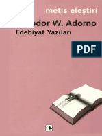 Edebiyat Yazıları - Adorno