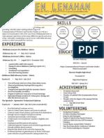 lauren lenahan professional resume 2014