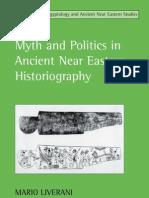 Mario Liverani - Myth and Politics in Ancient Near Eastern Historiography (Edtrs. Intro.)