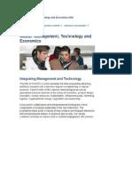 Master Managment Technology and Economics