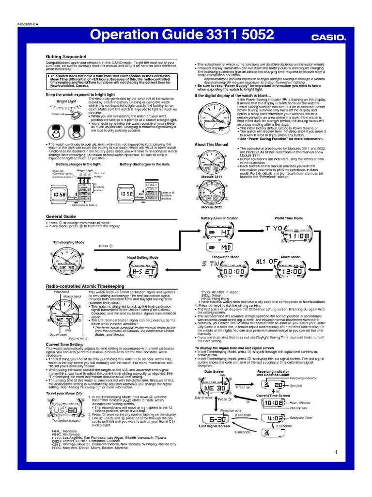 manual casio wva 470 watch daylight saving time rh scribd com Target Wave Ceptor Watches casio wave ceptor 5052 manual