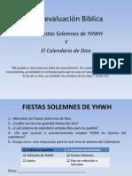 Auto-Evlaucion_Fiestas y Calendario de Dios I Parte