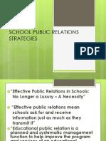 School Public Relations Strategies Ppt