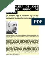 La Maleta de José Antonio Primo de Rivera