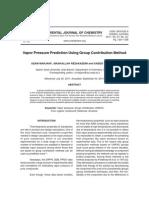 Vapor Pressure Prediction Using Group Contribution Method
