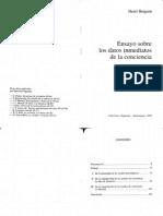 Bergson Ensayo Datos.