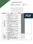 Teaching Evaluation Checklist