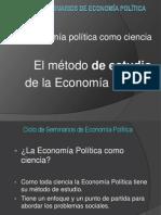 El Método de Estudio de La Eco Pol