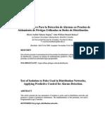 Control Predictivo Para Deteccion de Alarmas en Prueba Aislamiento de Pertigas Utilizando en Redes de Disribucion