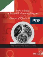 Establishing a good Mentoring Program