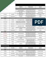 PA Speaker Schedule