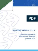 Lineamientos Para Las Aplicaciones Muestral y Censal SABER 359 2014