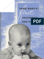 Your Baby's First Vegetables and Fruits - 1938 Booklet