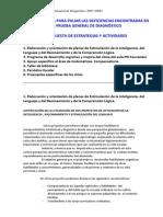 PLAN de MEJORA Evaluacion y Diagnostico 12-13